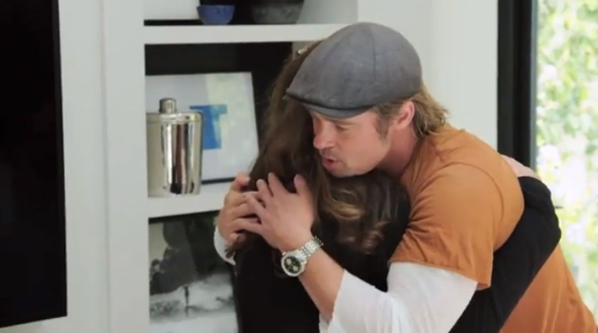 Programma Tv Ristrutturazione Casa brad pitt: sorpresa in tv per una cara amica e lui si