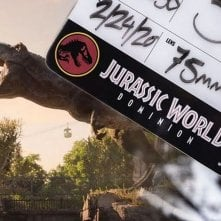 Jurassic World: Dominion, un ciak del film