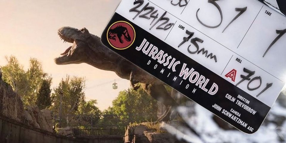 Jurassic World Dominion Logo And T Rex From Fallen Kingdom Ending