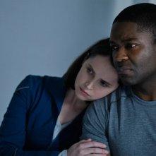 The Midnight Sky: una foto di Felicity Jones e David Oyelowo