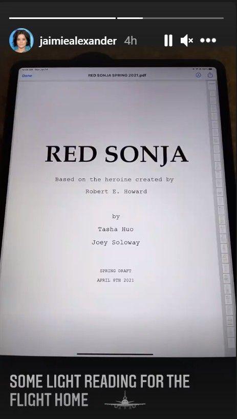 Jaimie Alexander Red Sonja Script Role Tease